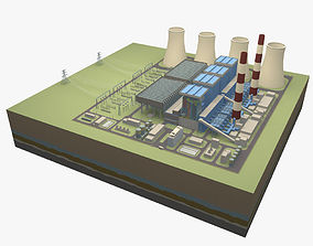 Thermal power station 3D model