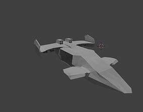 3D model Drop Ship Low Poly Needs texture