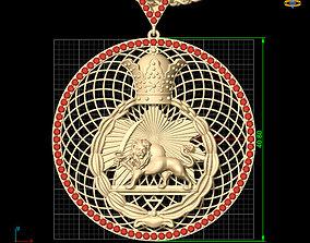 brillant 3D printable model lion pendant