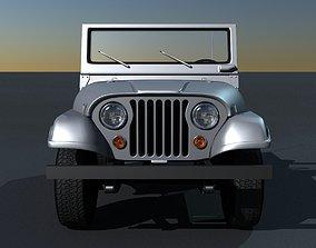 3D Jeep CJ-5 1975 car
