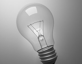 Light Bulb 3D incandescent