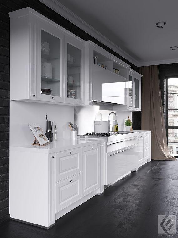 3d visualization kitchen set