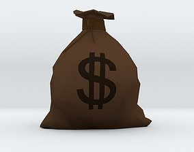 Money Bag 3D asset low-poly