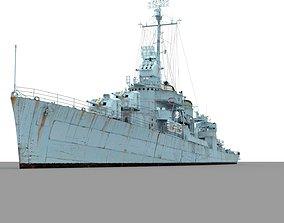 USS Fletcher 3D model