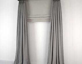 3D model Silk Curtains