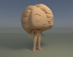 Custom Pop Girl Hair DIY Figure 3D Print Model 3D print