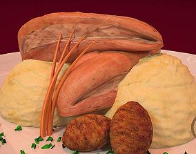 3D asset Roasted Chicken Gourmet