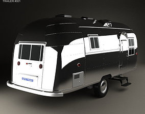 3D model Airstream Flying Cloud Travel Trailer 1954