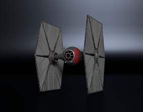 First Order TIE Fighters 3D model low-poly