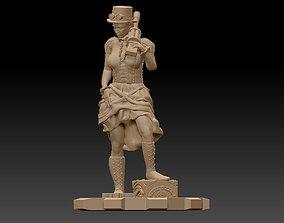 3D printable model Steam Punk Woman 001