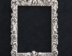 3D print model Picture frame baby flowers