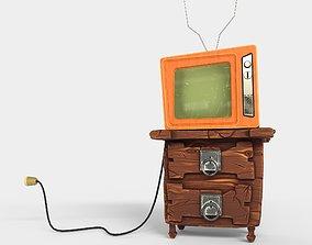 3D model Stylized vintage TV set