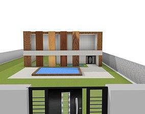 3D print model house interior villa