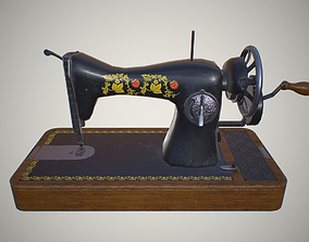 Sewing machine 3D asset