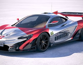 3D McLaren P1 GTR Senna 2019