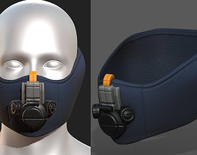 low-poly Gas mask respirator 2