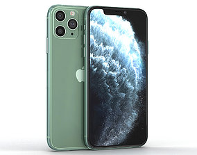 3D model game-ready Apple iPhone 11 Pro Midnight Green