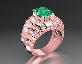 3D print model New New New Luxury Diamond Ring For Men 03