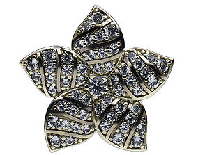 Earrings Five Petals 3D printable model