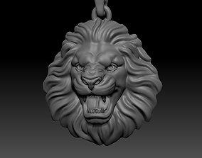 Roaring lion necklace 3D printable model