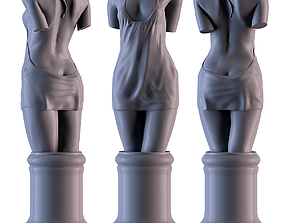 Woman Torso 3D printable model bust