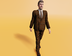 3D model Business Man - Animated low-poly character