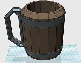Tankard 3D printable model