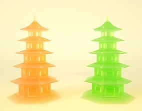 3D asset Jade twin towers
