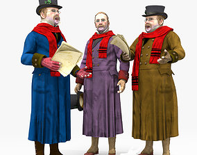 Victorian Man 1 - five in one - Low Poly 3D model