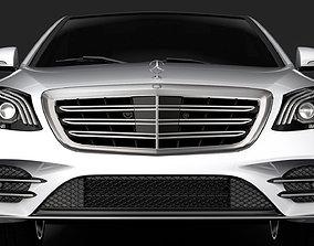3D Mercedes Benz S 560 Lang 4MATIC AMG Line V222