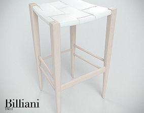 italian 3D model Billiani Vincent VG stool 445 white