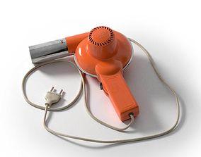 Italian Hair Dryer Vintage Orange 3D design