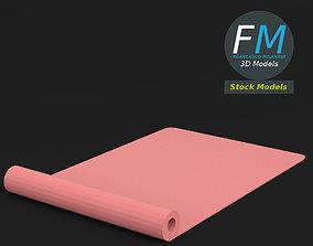 3D Half rolled yoga mat