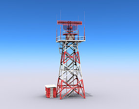3D model realtime Big Radar Tower