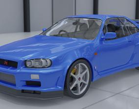 3D model Nissan Skyline R34 GT-R V-spec 2