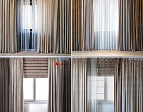 Curtains small pack 4 in 1 3D
