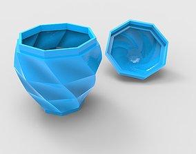Twist Box with a Lid 3D print model