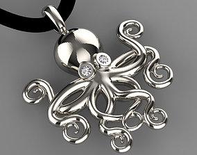 pendant octopus 3D print model