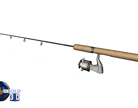 Fishing Rod Lowpoly 3d model realtime