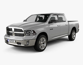 Dodge Ram 1500 Crew Cab Big Horn 2017 3D