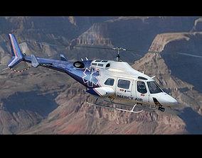 3D model Bell 222 Mercy Air