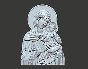 3D print model Our Lady icon virgin mary
