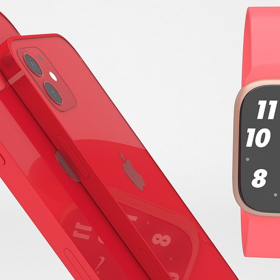 iphone 12 and pro with apple watch series 6 RED PRODUCT