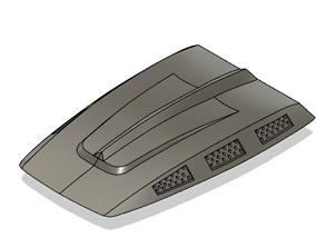 3D printable model RC Avenger Engine Cover For RC