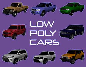 SUV Cars pack 3D asset
