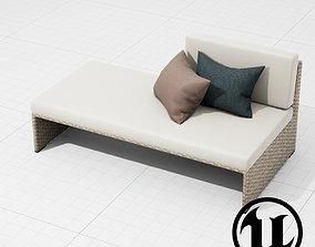 Dedon Slimline Lounger 002 UE4 3D model