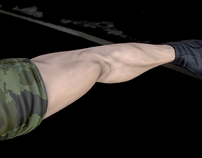3D glove Rigged Male First Person Character Arms