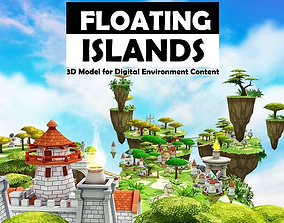 Floating Islands 3D model