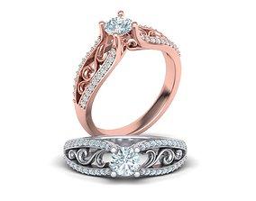 Half Carat Barocco Engagement ring printable ring