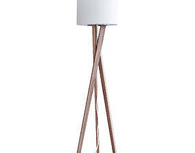 3D model Wooden Floor Lamp floor